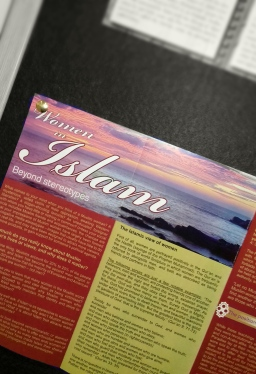 The leaflets on offer answered many questions for people. For instance Islams controversial gender issues.